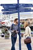 Traveling couple Royalty Free Stock Photo