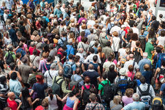 Traveling crowd Royalty Free Stock Photos