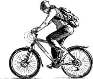 Traveling cyclist Royalty Free Stock Photography