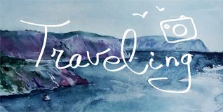 traveling deletreado libre illustration