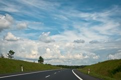 Traveling on empty asphalt road Royalty Free Stock Photography