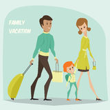 Traveling family on vacation. Stock Photography