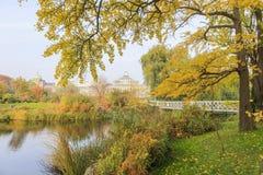 Traveling in the famous Botanical Garden, Copenhagen Royalty Free Stock Photos