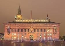 Traveling in the famous Copenhagen City Hall Stock Photo