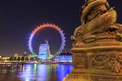 Traveling in the famous London Eye, London, United Kingdom Royalty Free Stock Photo