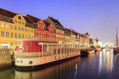 Traveling in the famous Nyhavn, Copenhagen Royalty Free Stock Images