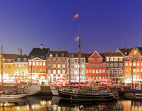 Traveling in the famous Nyhavn, Copenhagen Royalty Free Stock Photography