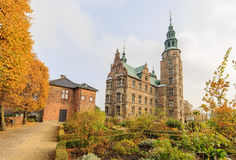 Traveling in the famous Rosenborg Slot, Copenhagen. Around Autumn season Royalty Free Stock Images