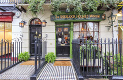 Traveling in the famous The Sherlock Holmes Museum, London, Unit Stock Images