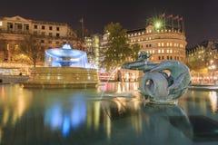 Traveling in the famous Trafalgar Square, London, United Kingdom Royalty Free Stock Image