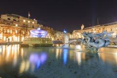 Traveling in the famous Trafalgar Square, London, United Kingdom Royalty Free Stock Photos
