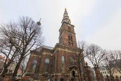 Traveling in the famous Vor Frelser Kirke, Copenhagen Stock Photo