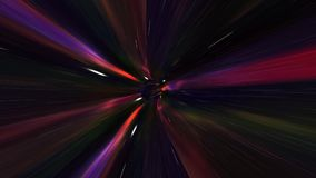 Traveling Fast In A Wormhole Through Space And Time stock footage