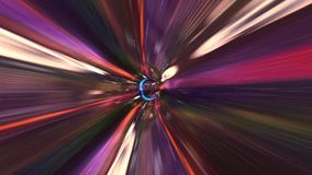 Beautiful Vortex Journey. Traveling Fast In A Wormhole Through Space And Time stock video