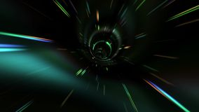 Flying In A Beautiful Vortex In Outer Space. Traveling Fast In A Wormhole Through Space And Time stock video