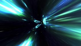 Hyperspace Travel In A Vortex. Traveling Fast In A Wormhole Through Space And Time stock video