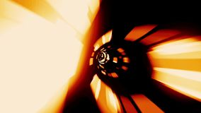 Travel Through A Spaceship Tunnel. Traveling Fast In A Wormhole Through Space And Time stock video footage