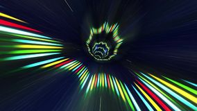 Traveling into a Dream Through a Colorful Tunnel. Traveling Fast In A Wormhole Through Space And Time stock video