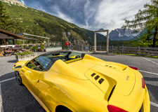 Traveling by Ferrari Stock Photography