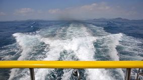Traveling by ferry boat. A trip on the ocean wave stock video