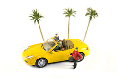 Traveling Figurine Royalty Free Stock Images