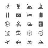 Traveling flat icons Royalty Free Stock Photos