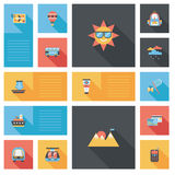 Traveling flat ui background,eps10 Royalty Free Stock Images