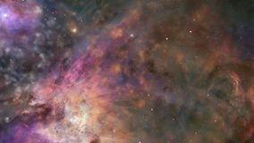 Traveling through a galaxy and star fields in deep space - Galaxy 001 HD stock video footage