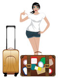 Traveling Girl Royalty Free Stock Photos