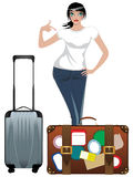 Traveling Girl Stock Photos