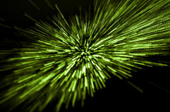 Traveling green light Stock Image