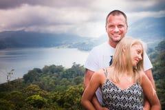 Traveling happy couple Stock Photos