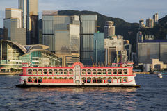 Traveling Hong Kong by Junk Boat Royalty Free Stock Images