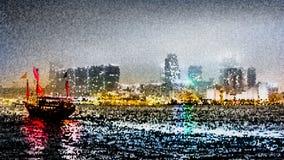 Traveling Hong Kong by Junk Boat Stock Photography