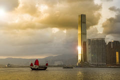 Traveling Hong Kong by Junk Boat. Traveling Hong Kong by taking Junk Boat royalty free stock photos
