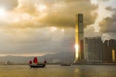 Traveling Hong Kong by Junk Boat Royalty Free Stock Photos