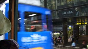 Traveling on a Hong Kong Tram stock footage