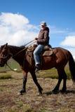 Traveling on horseback Royalty Free Stock Images
