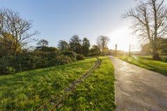 Traveling in the Hotham Park, Bognor Regis, United Kingdom. Around morning royalty free stock image