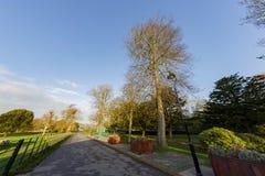 Traveling in the Hotham Park, Bognor Regis, United Kingdom. Around morning stock images