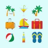 Traveling Icon Set stock illustration