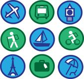 Traveling icons - 2 Royalty Free Stock Image