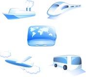 Traveling icons. On white background Royalty Free Stock Image