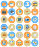 Traveling Icons Round Set Royalty Free Stock Photography
