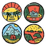 Traveling colored illustration, icons set. Traveling icons set. Colored illustration. Sports and recreation Royalty Free Stock Photos