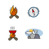 Traveling icons for Web and Mobile App. Traveling and camping icons for Web and Mobile App. Vector illustration Stock Photography