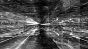 Traveling inside a black and white labyrinth of data. Data Storm 0112: 3D animated background traveling inside a black and white labyrinth of data (Video Loop stock video