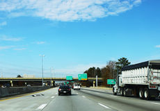 Traveling Interstate 64 in Virginia Royalty Free Stock Photography