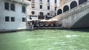 On The Venice Water stock video footage