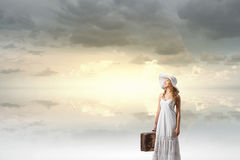 She is traveling light Royalty Free Stock Photography